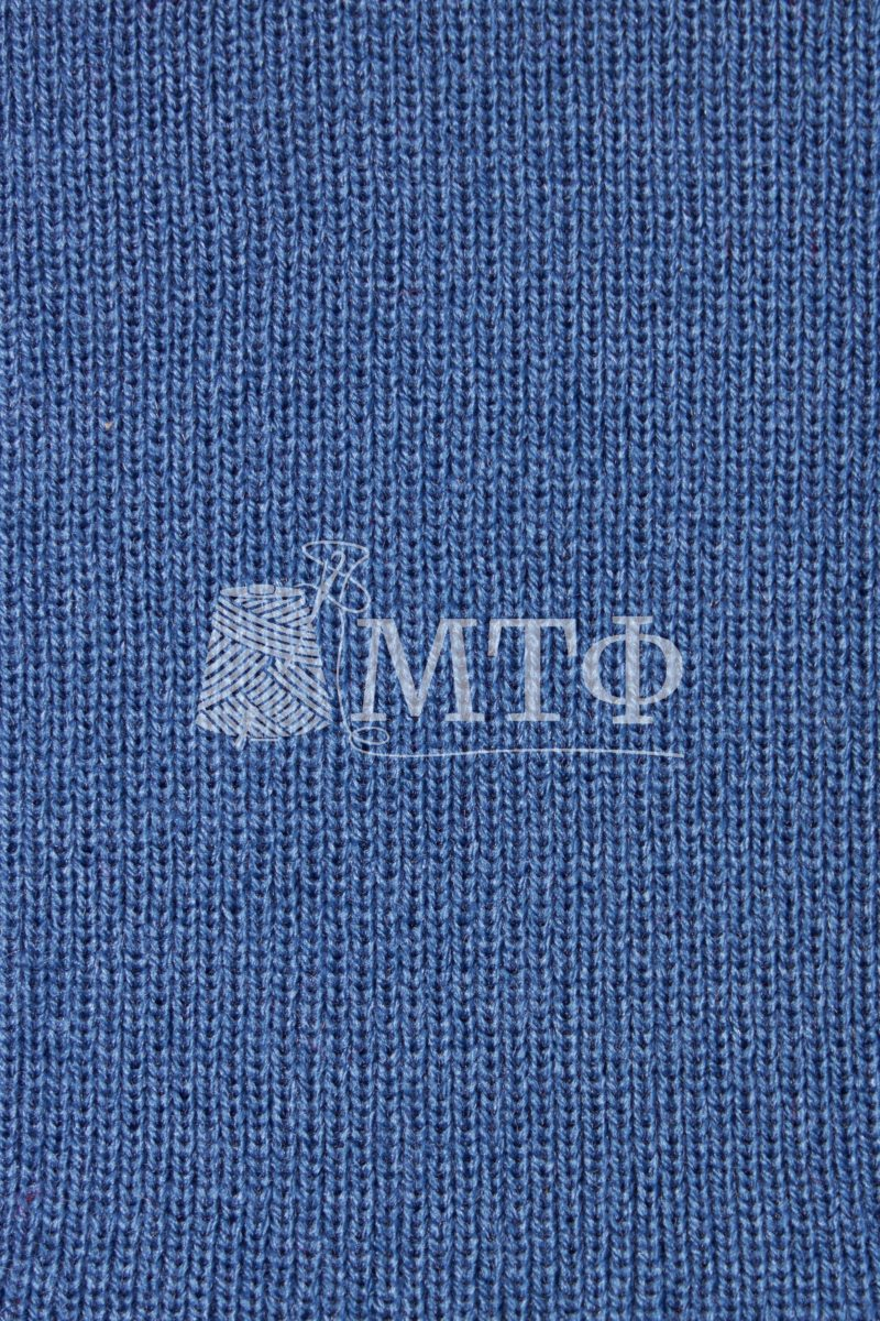Полотно трикотажное, ластик 1х1, королевский синий