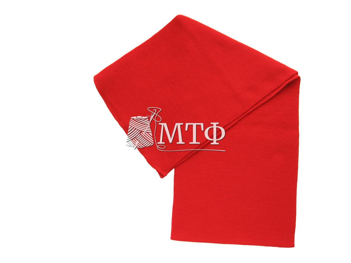 Шарф вязаный, размер 120х16, красный мак