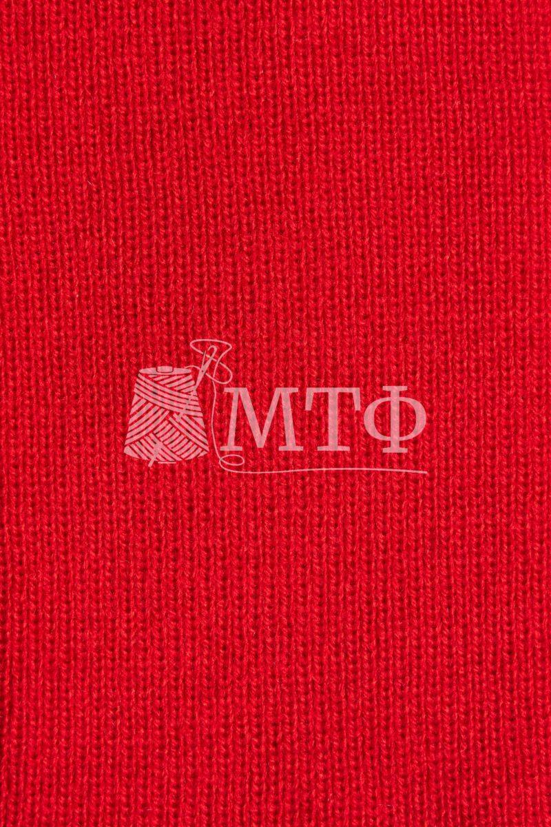 Полотно трикотажное, ластик 1х1, красный мак