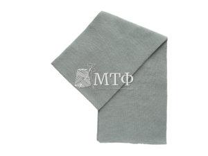 Шарф вязаный, размер 120х16, металл