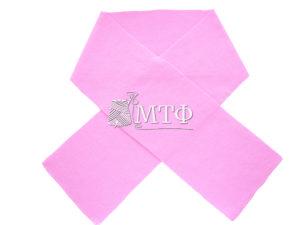Шарф вязаный, размер 120х16, розовый миндаль